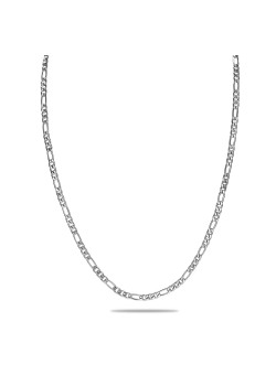 stainless steel necklace, figaro