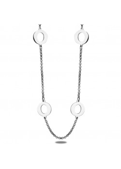 stainless steel necklace, open rounds
