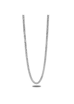 stainless steel necklace, 2 mm gourmet link