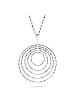 halsketting in zilver, cirkels