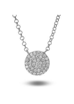 halsketting in zilver, rondje van 10 mm met zirkonia