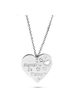 halsketting in zilver, hart