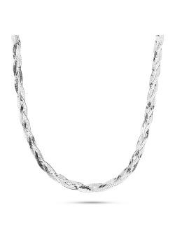 halsketting in zilver, vlecht