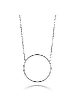 Halsketting in zilver, cirkel van 27 mm
