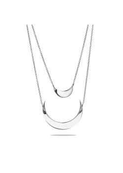 halsketting in zilver, dubbele ketting, manen