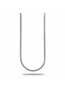 Collier en argent, maille serpent, 40cm