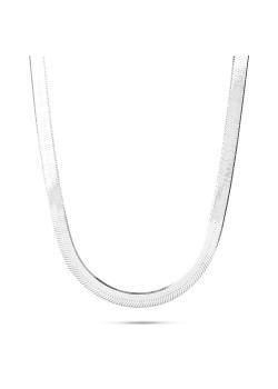 halsketting in zilver