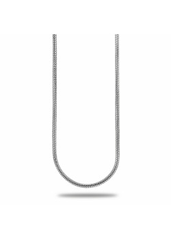 silver necklace, snake chain, 50 cm