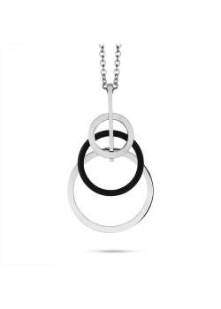 Stainless steel necklace, 3 circles