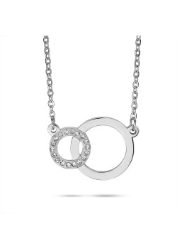 Stainless steel necklace, 2 circles