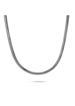 Stainless steel necklace, snake chain
