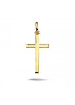 18ct gold plated pendant, cross