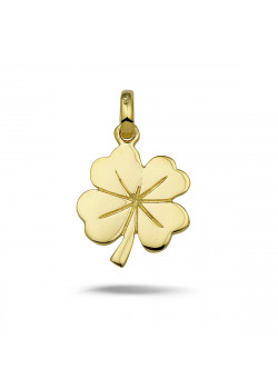 18ct gold plated pendant, clover