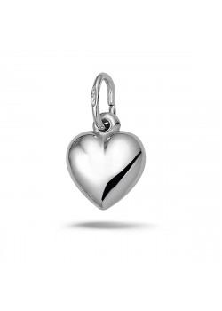 Hanger in zilver, blinkend hart