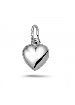 Silver shiny heart pendant