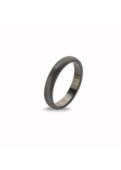 Ring in edelstaal, mat grijs