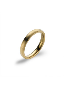 Matte gold-coloured stainless steel ring