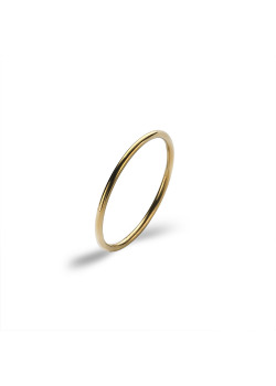 Gold-coloured stainless steel ring, thin ring