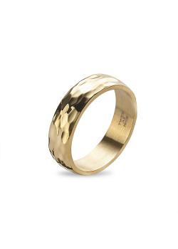 Ring in goudkleurig edelstaal, gebeiteld, 5 mm