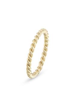 Ring in goudkleurig edelstaal, gedraaid, 2,5
