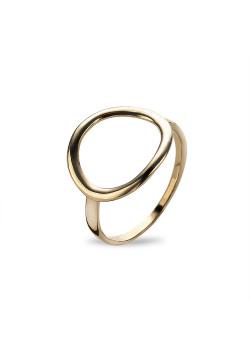 Ring in 18kt plaqué goud, open ovaal