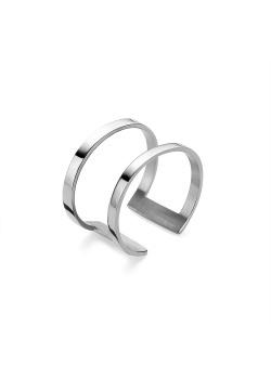 Ring in edelstaal, dubbele, open ring