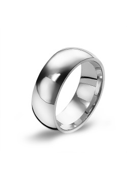 Stainless steel ring, wide, 7 mm