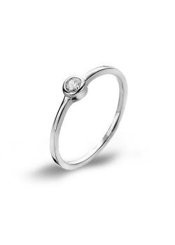 Ring in zilver, kleine zirkonia, solitaire