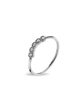 Silver ring, 5 zirconia