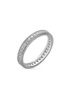 Ring in zilver, rij met zirkonia