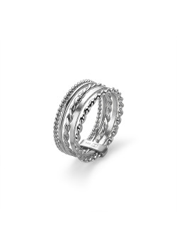 Silver ring, 5 different thin rings