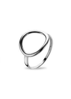 Ring in zilver, gebogen cirkel