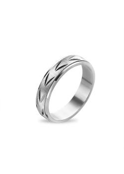 Ring in zilver, motief, 4 mm
