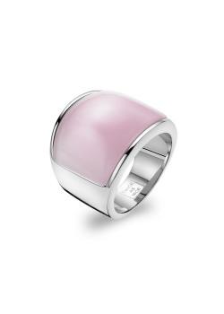 Ring in edelstaal, roze