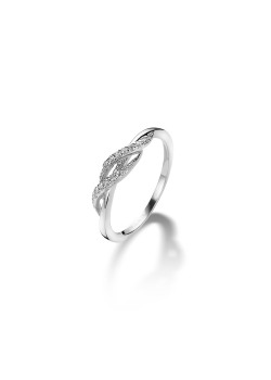 ring in zilver, zirkonia