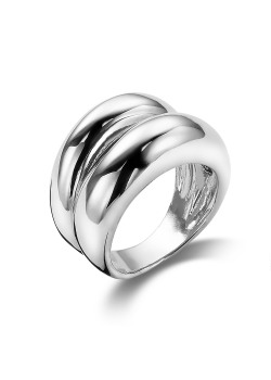 dubbele ring in zilver