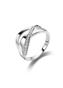 ring in zilver met 1 rij zirkonia