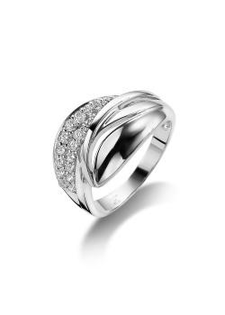 ring in zilver met zirkonia