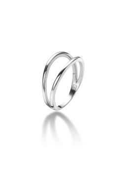 ring in zilver, dubbel
