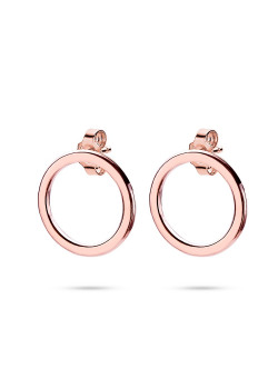 oorbellen in rosé zilver, cirkel