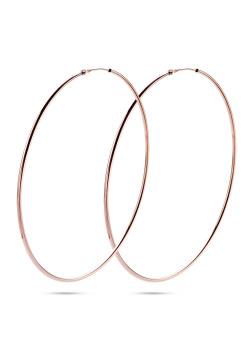 rosé silver hoop earrings