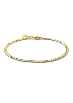 18ct gold plated bracelet, flat snake chain, 3 mm