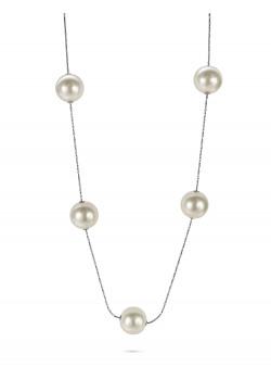 High fashion halsketting, lange ketting, 9 parels
