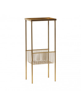 Console table metal brass 43x30xh93cm