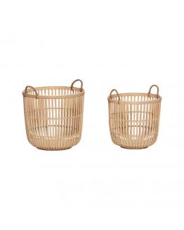 Basket round bamboo nature 39xh36cm