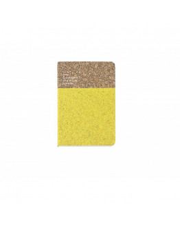 Cork Notebook Yellow Small