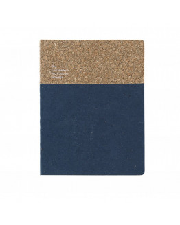 Cork Notebook Large Blue