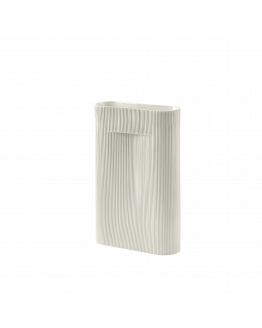 Ridge Vase H48,5cm - Off White