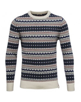 Jaquard Round Neck Knit