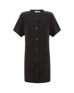 Oversize, short sleeved cupro shirt